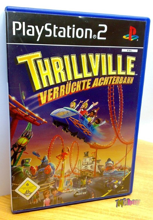 Playstation 2 játék: Thrillville: Off the Rails, Német verzió: verrückte achterbahn