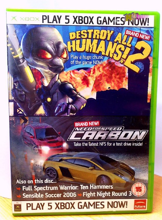 Xbox Classic játék: Official Xbox Magazine Game disc 61: Destroy all humans!